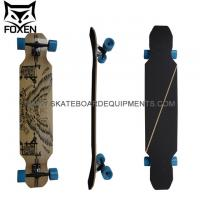 custom 7 ply canadian wood cruiser skateboard longboard,canadian maple wood skateboard with heat transfer Manufactures