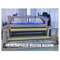 Green Plastic Tarpaulin Making Machine Water Jet Powered High Performance Manufactures