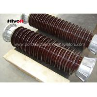 Brown Color Station Post Insulators For 110kV Substations Metric Pitch Manufactures
