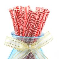 Customer Printed Paper Party Straws 0.25 Inches Diameter Durable Reyclable Manufactures