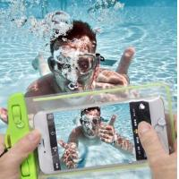 Underwater IPX8 PVC Waterproof Dry Pouch Waterproof Dry Bag for Cell Phone with Dule-Sides Transparent Windows Manufactures
