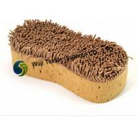 Brown Chenille Washing Sponge with Long Pile for Kitchen , Bathroom Manufactures