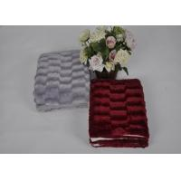 100% Polyester Brown Red Luxury Faux Fur Blanket With