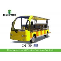 72V Dc Motor Electric Sightseeing Car Tourist Bus With 14 Seats For Campus / Community Manufactures