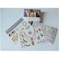 China Hot Stamping Foil Metallic Flash Tattoo Stickers Body Art Long Lasting on sale