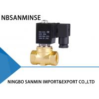 China P4 Mini Brass / SS 316 Electric Solenoid Water Valve Pilot Operated Action on sale