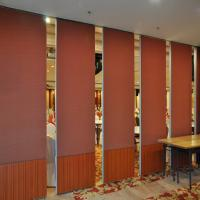 China Soundproof Operable Partition Wall With Ceiling Track / Folding Panel Partitions on sale