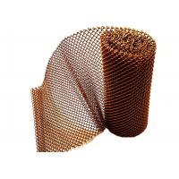 Flexible Copper Color Metal Mesh Fabric , Metal Coil Drapery For Room Divider Manufactures