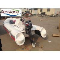4 Stroke Outboard Engine Hard Bottom Inflatable Dinghy , 390cm Inflatable Fishing Boat Manufactures