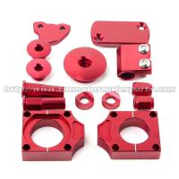 China CNC MX Bling Kit With Front Brake Master Cylinder Cap And Brake Line Clamp on sale