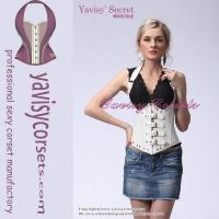 Buy cheap sexy sling white underbust corset waist cincher corset from wholesalers
