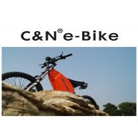 Quality Black Color Folding Electric Enduro Bike , Off Road Electric Mountain Bikes for sale