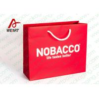 Bright Red Color Personalised Paper Shopping Bags For Business Eco - Friendly