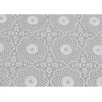 White Water Soluble Lace , Embroidered Guipure Venice Lace Fabric For Bridal Dress Manufactures