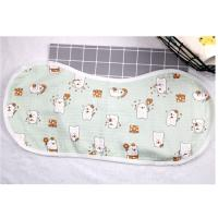 China Adjustable Infant Bandana Burp Cloths , Muslin Baby Clothes Bibs Four Layers on sale