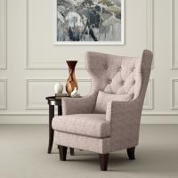 Astaire French Style Accent  Arm Chair Reading Room With Curved Back Manufactures