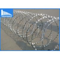 China Zinc Coated Concertina Barbed Wire For Highway / Railway Protection on sale