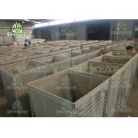 Mil 7 Size Galvanized Gabion Box 4.0mm Wire For Defensive Firing Positions Manufactures