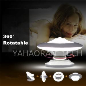 China 360 Degree Rotation motion sensor light control UFO led wall night light 0.8w on sale