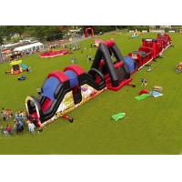 Outdoor Obstacle Course Game For Playground , Boot Camp Inflatable Obstacle Course Manufactures