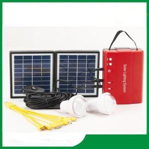 Cheap price mini solar lighting kits, portable solar lighting kits with bulb light & FM radio for hot selling Manufactures