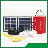 Mini solar lighting kits, portable solar lighting kits with bulb light, FM radio, phone charger for cheap sale Manufactures