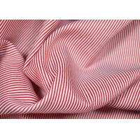 Soft Touch Cotton Yarn Dyed Fabric , Smooth Red And White Striped Material Manufactures