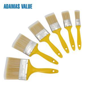 High quality paint flat brush plastic handle PET fibre bristles 32341