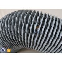 PVC Coated Glass Fibre Flexible Air Ducting 200MM Diameter 5 Meters 260℃ Manufactures