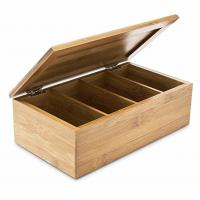 Quality Home Decoration Bamboo Storage Box Wooden Jewellery Box With 4 Compartments for sale