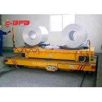 China Intelligent Charger Battery Operated Steel Coil Transfer Car Moving On Rail Road 50 Metric Ton Capacity on sale