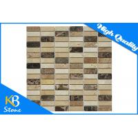 Exterior / Interior Travertine Nature Stone Mosaic Marble Tiles for Bathroom Wall or Floor Manufactures