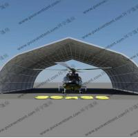 Movable Curved Temporary Tent Buildings For Helicopter Hanger , No Door Manufactures