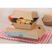 Eco Friendly Kraft Paper Takeaway Box Custom Food Packaging with Handle,Food Grade Paper Packing Burger Box, bagease pac Manufactures