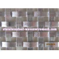 Flat Wire Woven Decorative Metal Mesh Panels , Custom Woven Wire Cloth Manufactures