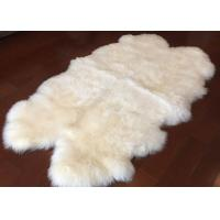 Real Sheepskin Rug Customized Size 110 x180cm Australia Long Wool Hides Rug Manufactures