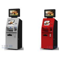Cash Dispenser , Card Reader Bank ATM Machines Stainless Steel Kiosk With Keyboard Manufactures