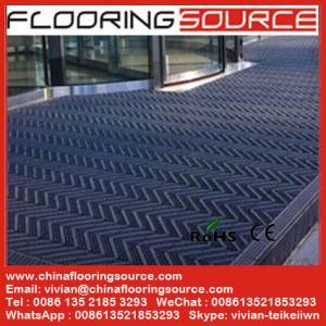 Building outdoor entrance floor matting Scrape Dirt Non Slip for high traffic entrance Manufactures