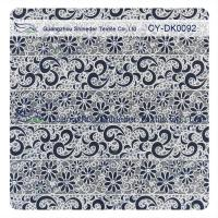 Cotton Polyester Burn Out Lace Fabric Custom Printed For Children Garment Manufactures