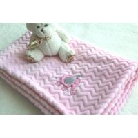 China Factory Wholesale Pink Color Embroidered Baby Blankets for Kids Manufactures