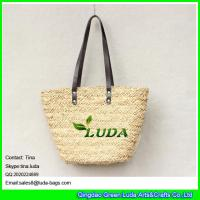 LUDA wholesale lady's basket bag handmade water grass straw bags Manufactures