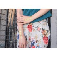 Gold Silver Temporary Tattoos Glossy Temporary Tattoos Sticker Mixed Styles Manufactures