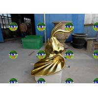 China animal golden elephant head statue/sculpture as decoration in hotel mall display model wholesale