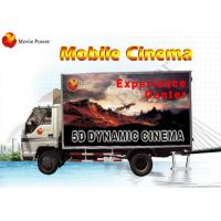 China Waterproof Cabin VR Truck Mobile 5D Cinema Sophisticated 6 - 12 Seat on sale