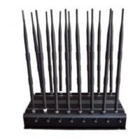 Buy cheap All-in-one 16 Bands High Power Adjustable Stationary Wireless Signal Jammer from wholesalers