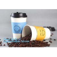 Disposable 8/12/16 Oz Beverage Coffee Cups Single Wall Paper Cups with Lid