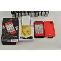 Red Shock Proof Waterproof Cell Phone Case Protective For Iphone 4 Manufactures