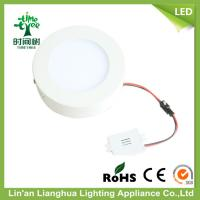 Household 6W LED Flat Panel Light Round With Warm White 2700K CRI 80 Manufactures
