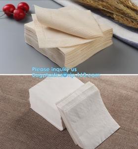 1/4 Fold Coffee Bar Beverage Black Paper Napkin,Printing paper napkin/decorative paper dinner napkins, BAGPLASTICS,PAC Manufactures