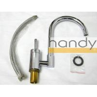 Single Hole Chrome Kitchen Sink Water Faucet / High Arc Purity Brass Home Kitchen Tap Manufactures